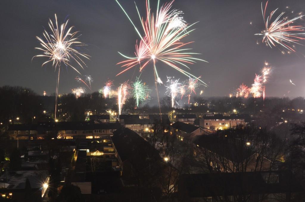 Vuurwerk boven Stadskanaal
