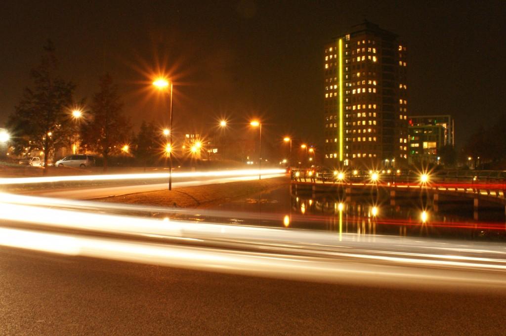 Stadskanaal 's avonds.